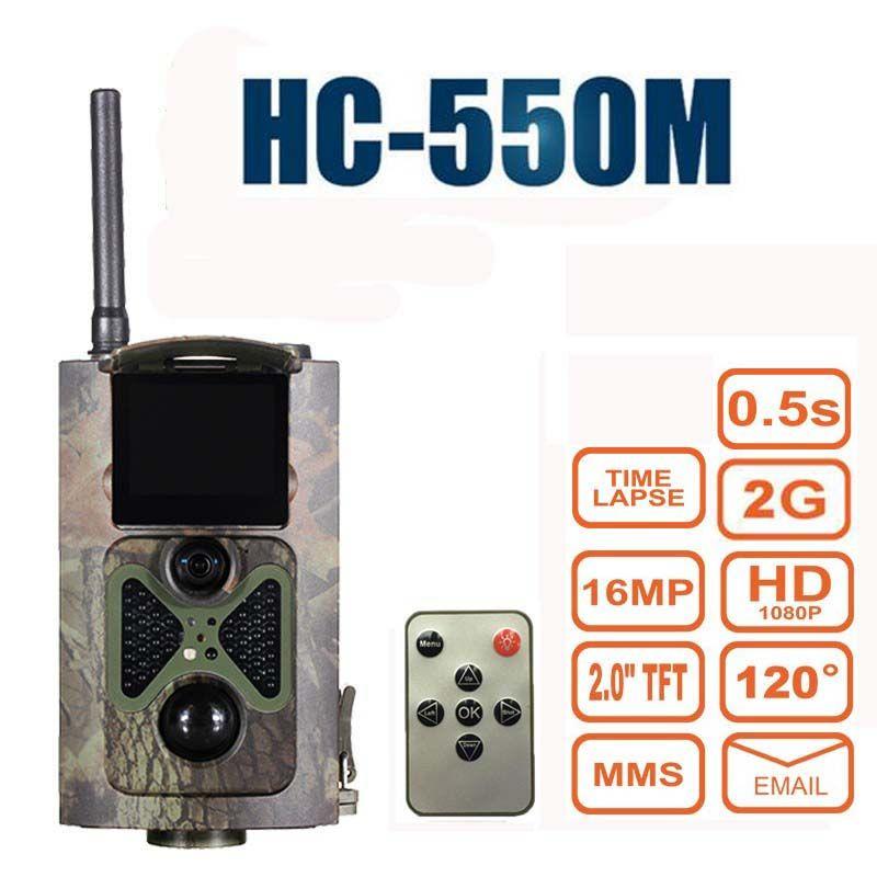 16MP Jagd Kamera HC550M 0,5 s triggerzeit 2G GPRS MMS GSM SMS 1080 P 120 grad PIR Sensor Wildlife Trail Kameras