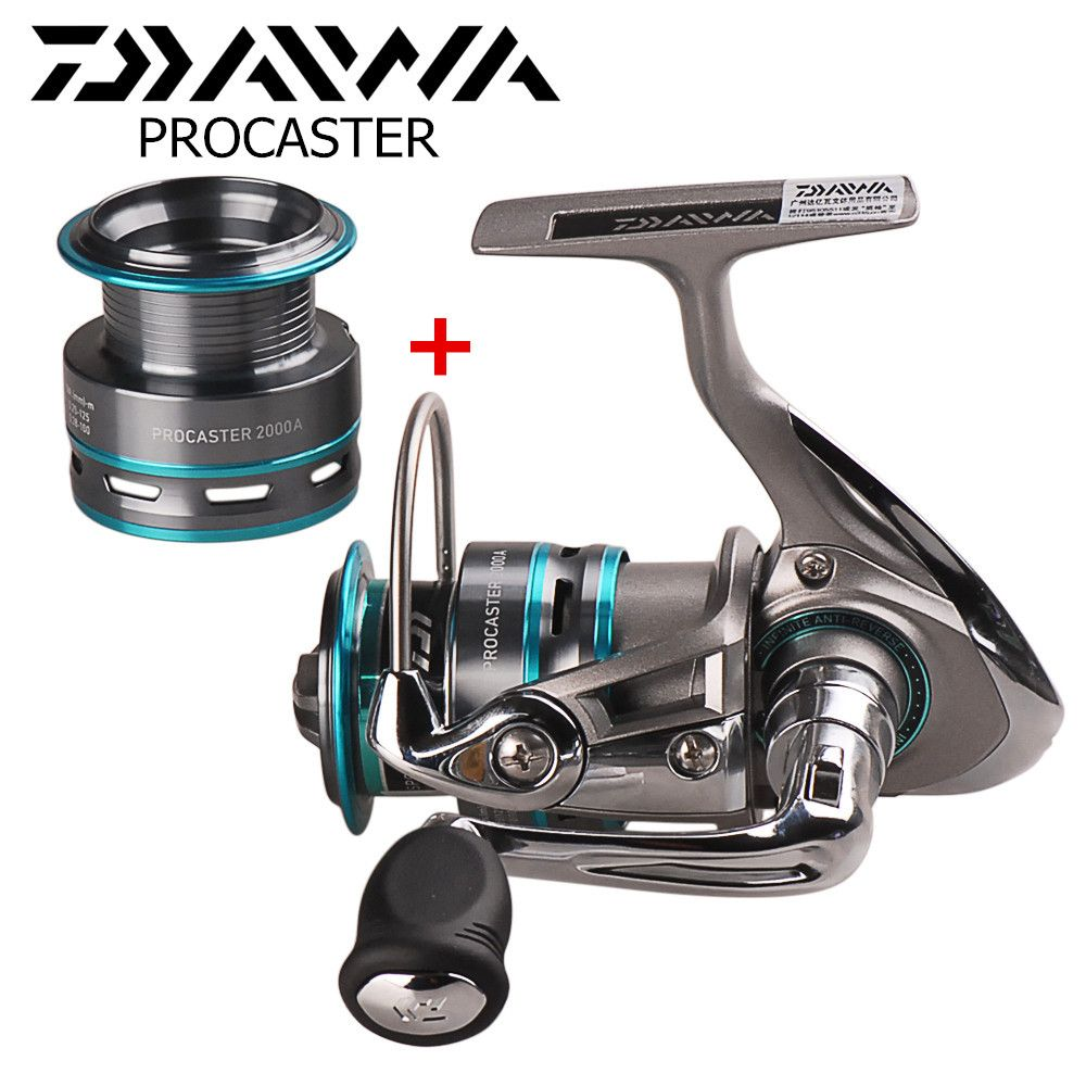 DAIWA PROCASTER Spinning Fishing Reel with Spare Spool 2000/2500/3000/3500/4000 Carp Fishing Reel Pesca Carretilha Lure Reel