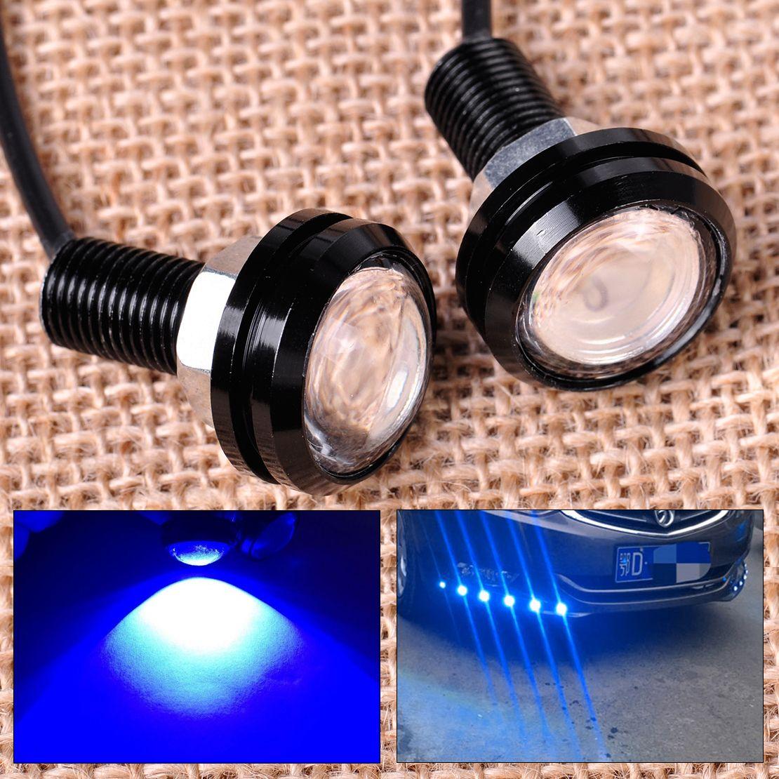 Citall 2 шт. синий крючке Hawkeye светодиодный вспышки света лампы дневного Бег свет для лодка морской автомобиля внедорожник- road Мотоцикл