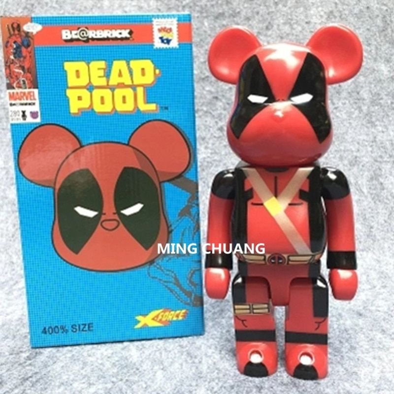 11 Inches Be@rbrick 400% Bearbrick Avengers Infinity War Deadpool Peko BB PVC Action Figure Collectible Model Toy D178