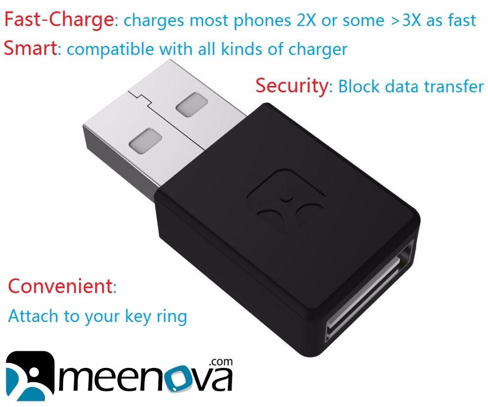 Meenova Intelligent et Sécurisé Rapide-Charge USB Adaptateur pour Smartphones et Tablettes iPhone: 2X Rapide De Charge, bloc De données & Charge Seulement