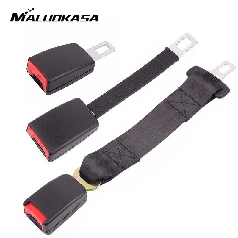 Universal Car Seat Belt Extender 3 Size Safety Belt Extension Plug Buckle Seat Belt Clip Seatbelt Extender Auto Accessories