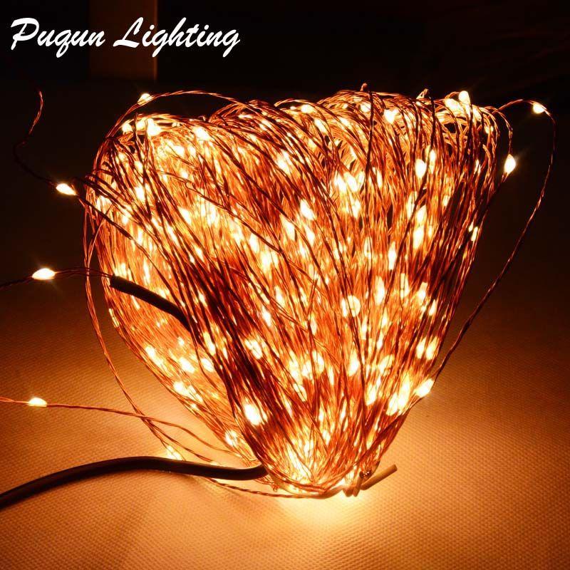 Haute qualité 50M 500LED fil de cuivre jeu de lumière clignotant LED guirlande de noël vacances de mariage intérieur extérieur lumières décoration