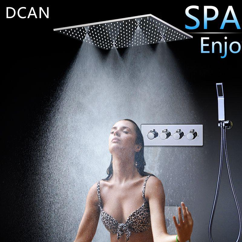 Spray SPA Thermostat Dusche Set 20 Zoll sky Vorhang Dark Wand In die Multi-Funktion Dusche Düse 3 Outlet hight Fluss Schalter
