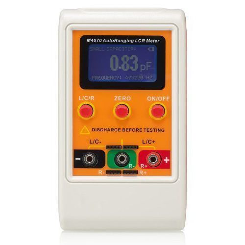 M4070 AutoRanging LCR Meter Up to 100H 100mF 20MR, 1% accuracy 5 digit display Orange