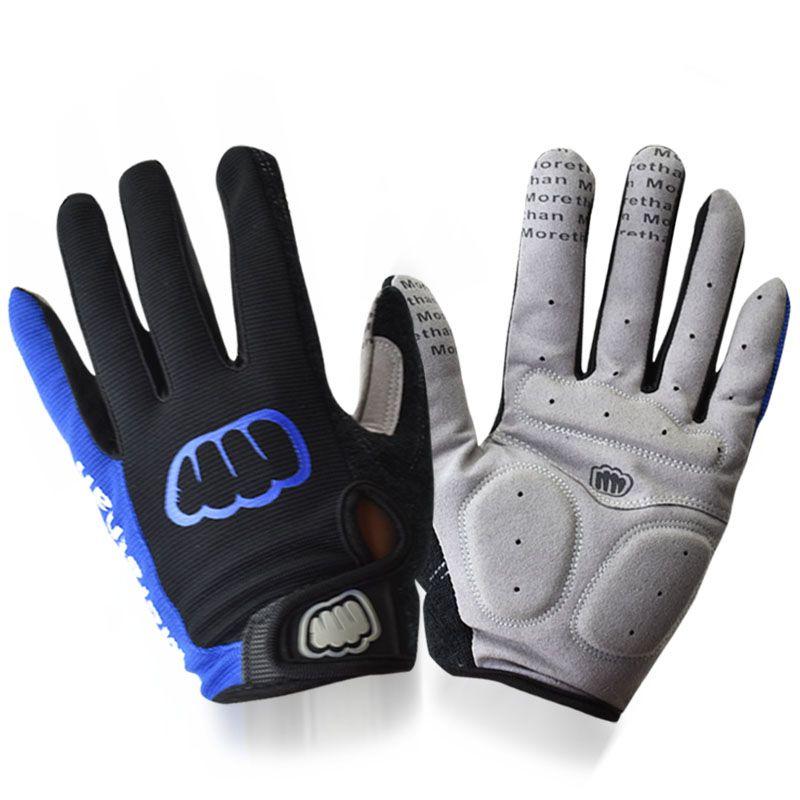Männer Frauen Vollfinger Gel Fahrradhandschuhe Atmungs Touchscreen Fahrrad Handschuhe Lange Finger MTB Handschuhe