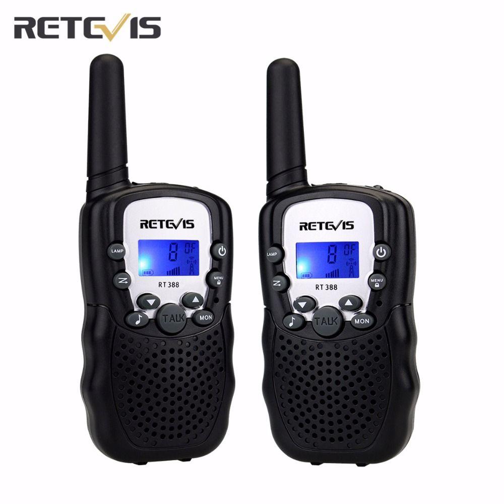 2 pcs 5 Couleurs UE Fréquence Mini Talkie Walkie Enfants Radio Retevis RT388 Portable Radio 0.5 W à Deux Voies Radio Communicateur A7027