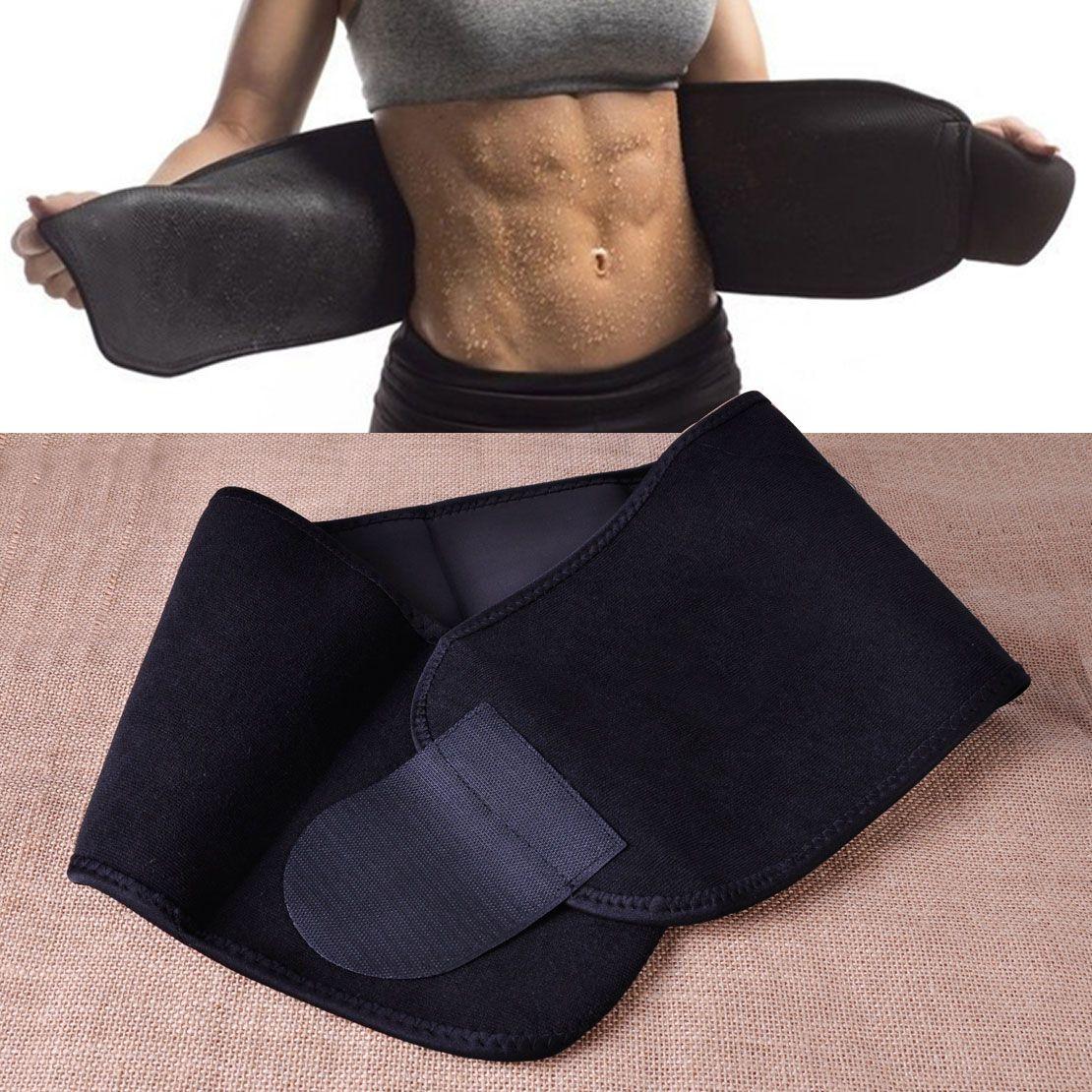 Néoprène Noir Taille Tummy Trimmer Minceur Ceinture Sueur Bande Corps Shaper Wrap Perte de Poids Brûler les Graisses Exercice Pour la réduction de poids