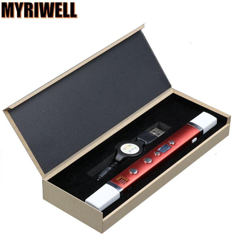 Neueste 3D Stift MYRIWELL RP-100C Dritte generation USB Stecker 5 V 2A Kreative Caneta Stift 3D graffiti pen Digital 4 geschwindigkeit regulierung