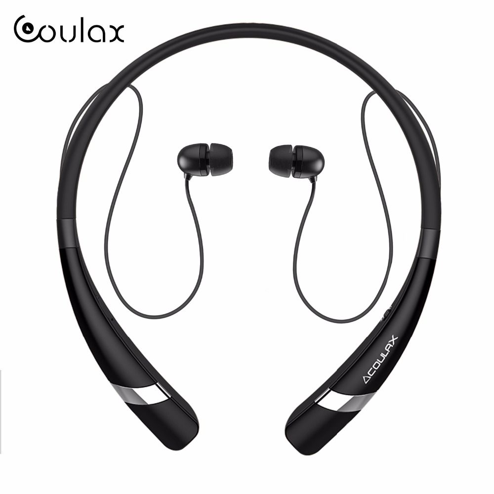 COULAX Wireless Bluetooth Headset <font><b>Stereo</b></font> Headphone Bluetooth Earphone with Microphone earph for mobile phone for iPhone Android