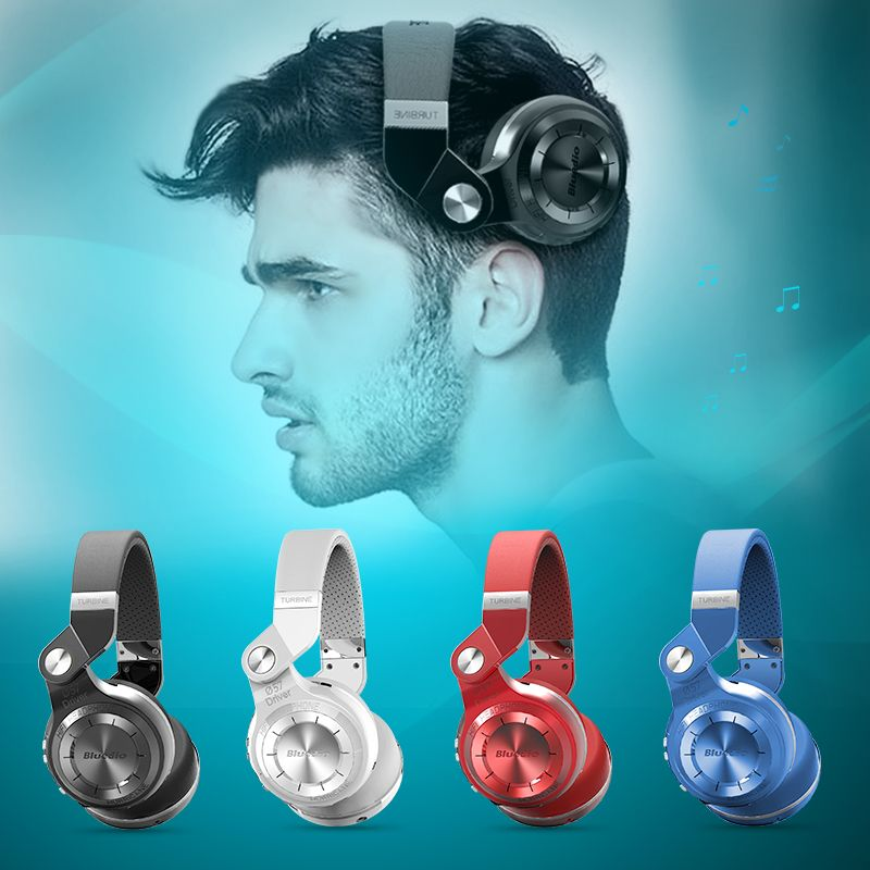 Bluedio T2+ Foldable Bluetooth Wireless Headphones With FM Radio and SD card <font><b>Functions</b></font> For cell phone music bass headset
