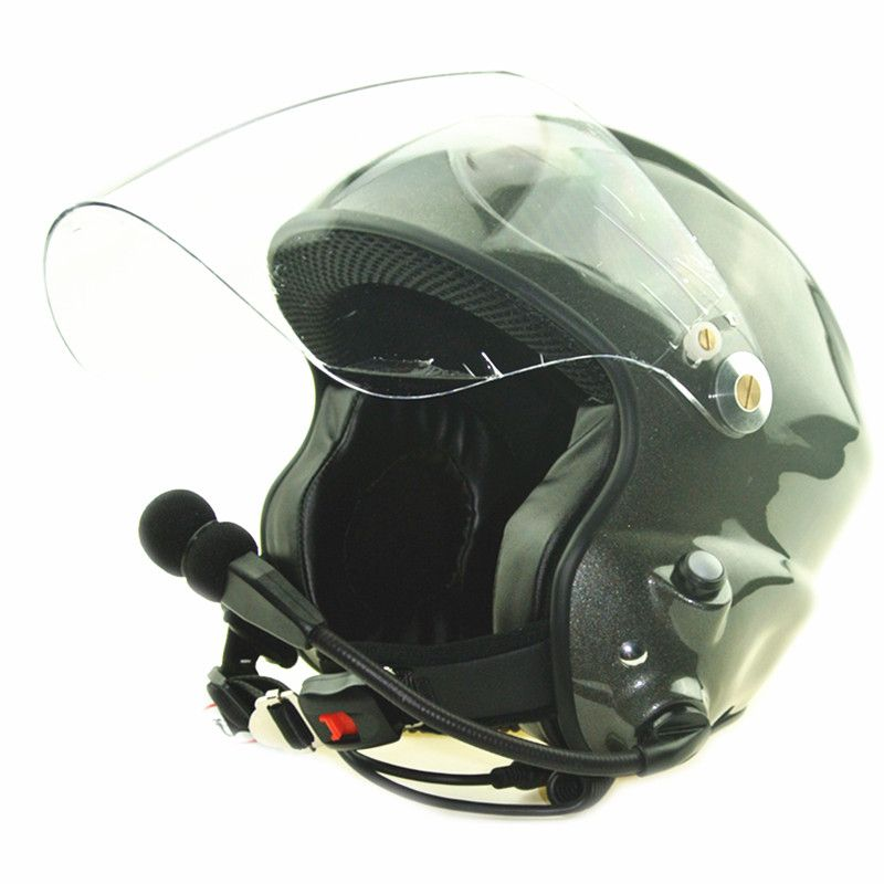 Noise cancelling paramotor helmet with full headset two side PTT control CE EN966 standard free shipping