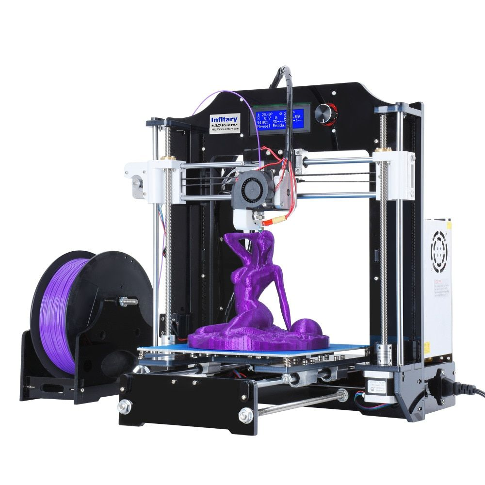 RepRap Prusa i3 3D Printer kits FDM Injection Molded CNC Full Colors 3d printer with 1 roll Filaments for Artistic & Education