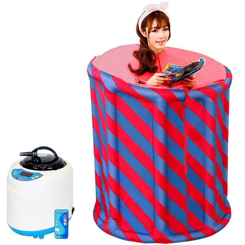 Familie sauna dampf box hause sauna schweiß dampfenden box dampf sauna haushalt khan dampfbad begasung maschine falten dampfer