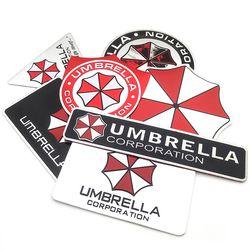 Car styling 3D aleación de aluminio del coche de la Corporación del paraguas pegatinas Resident Evil decals emblema decoraciones insignia auto Accesorios