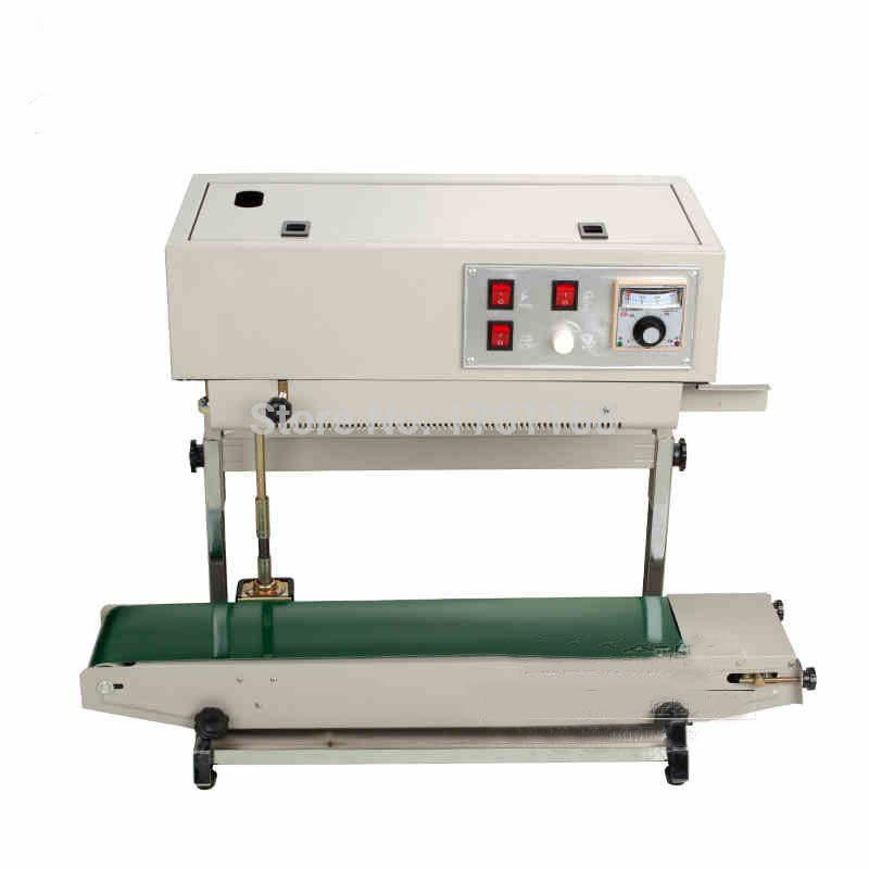 Machine de soudure de scelleur populaire de sac en plastique de Machine de cachetage verticale pour le paquet liquide ou de pâte capable d'imprimer la Date FR-900