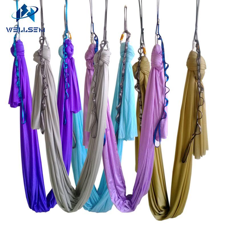 20 couleurs choix 5 m/ensembles vol aérien Anti-gravité Yoga hamac Swing Yoga musculation entraînement équipement de fitness livraison gratuite