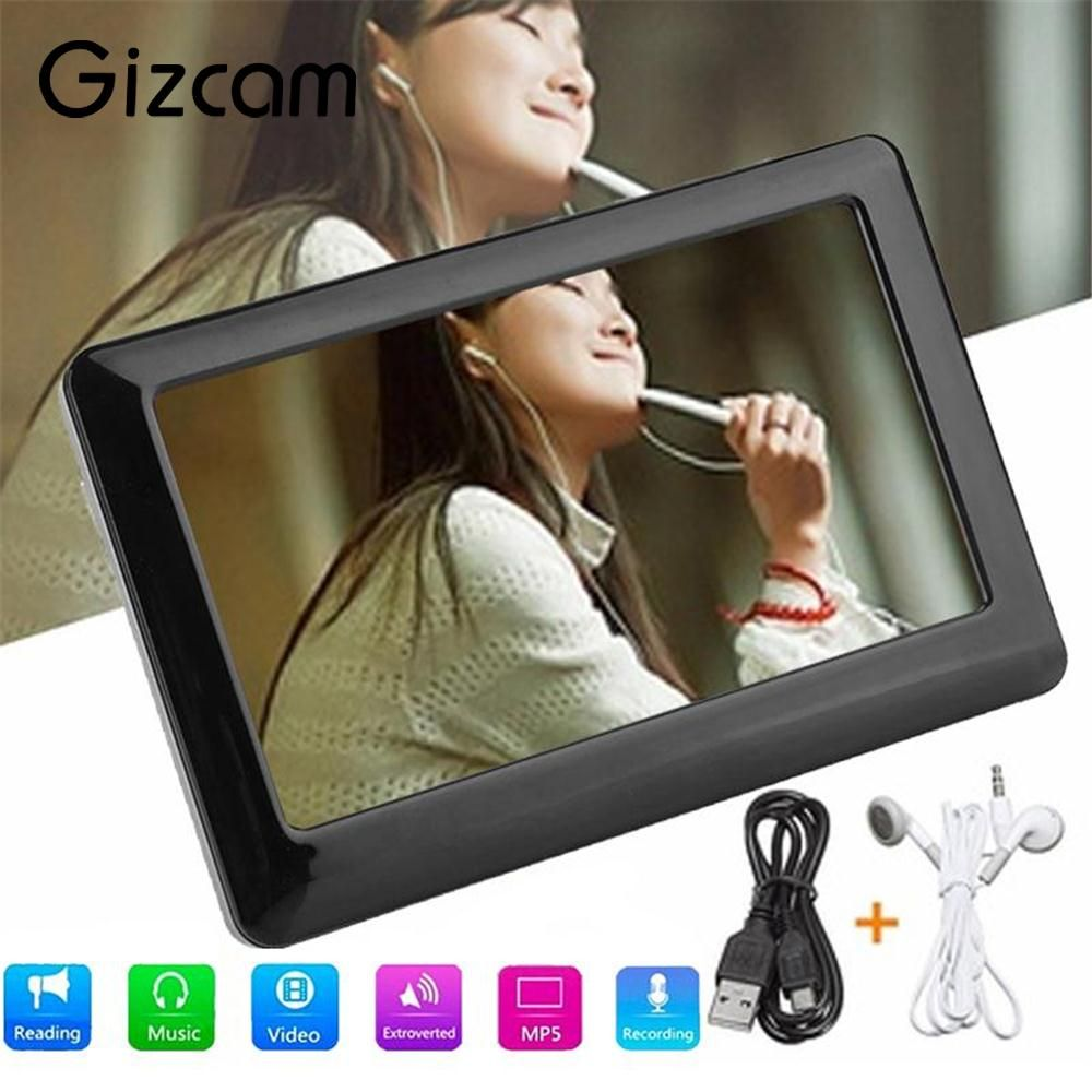 Gizcam Tragbare 8 GB 4,3 Zoll Touch HD lcd-bildschirm MP4 MP3 MP5 Media Player Video FM Radio Schnelle Geschwindigkeit Geschenk Unterstützung 32G TF karte