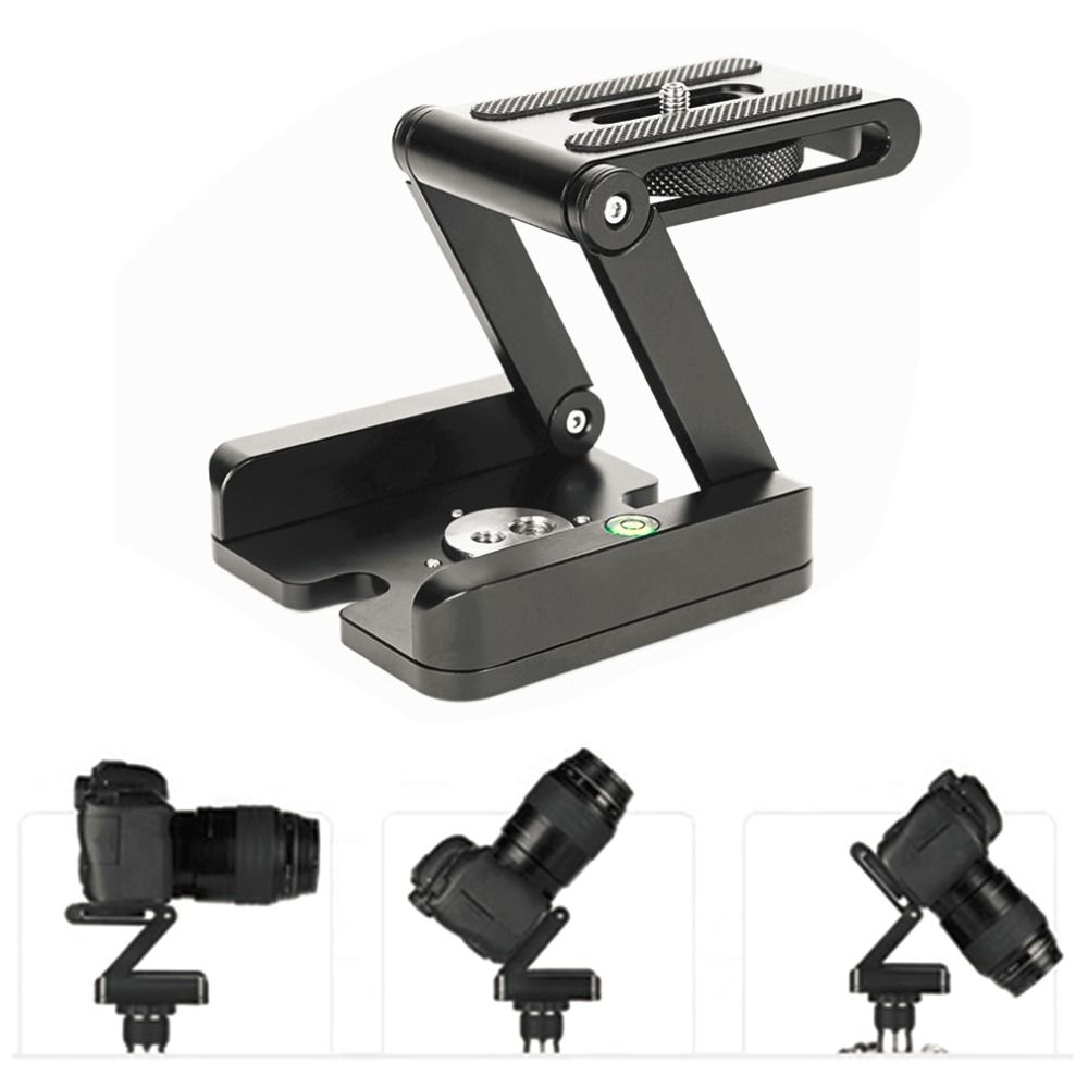 Folding Z Type Stand Holder Professional Tripod Kit Flex Tilt Head Pan Ball Head Folding Desktop Compatible Camera Camcorder
