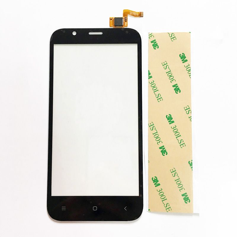 Replacement Parts Screen For Ark Benefit M5 ark m5 Touch Screen Glass lens Digitizer Touch Screen  White/Black+3m sticker