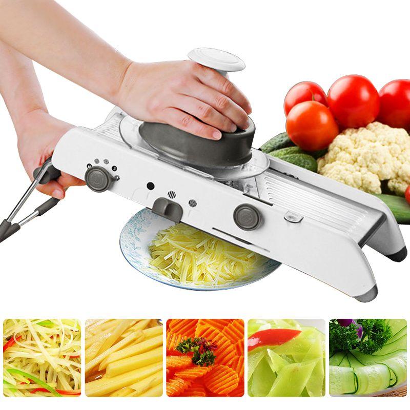 Mandoline trancheuse coupe-légumes manuel râpe professionnelle avec réglable 304 lames en acier inoxydable outil de cuisine végétale