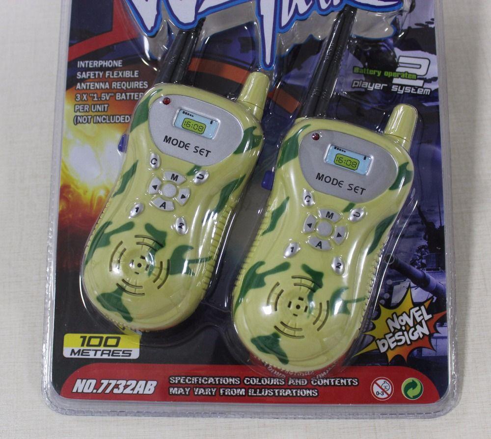 Child Kids Camouflage Walkie Talkie Parenting Game Two Way Radio Communication Toy Electronics children talkie walkie 30M