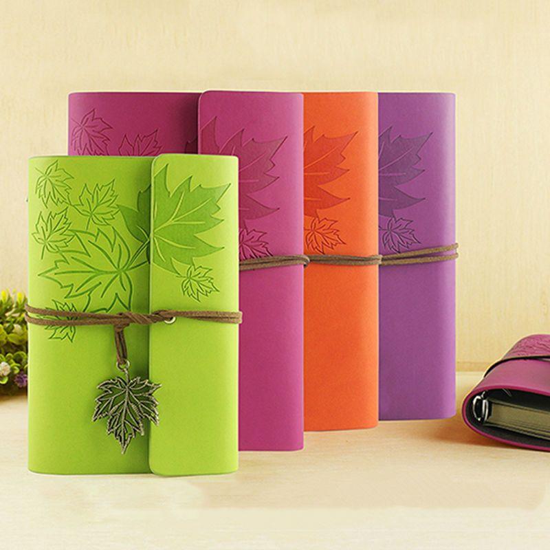 Raj couverture souple En Cuir voyageur cahier vierge kraft papier note livre A7 A6 creative voyage journal fournitures scolaires