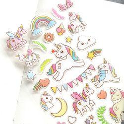 1 pcs DIY Coloré Mignon Licorne cheval kawaii Autocollants Journal Planificateur Journal Note Journal Papier Scrapbooking Albums PhotoTag