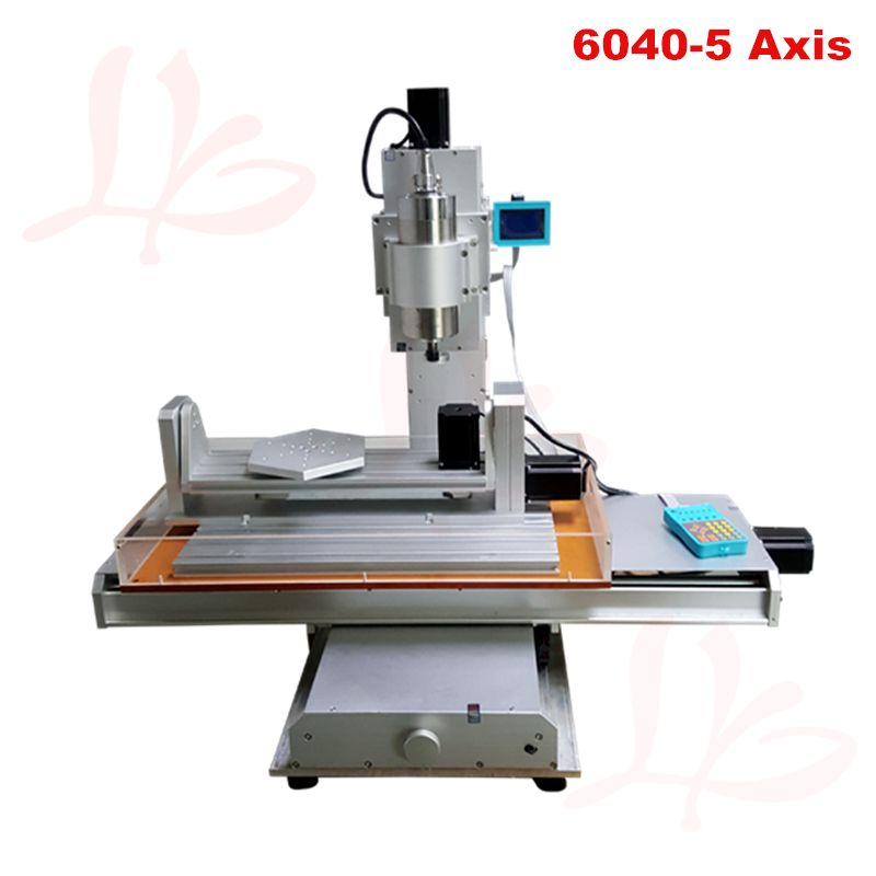 LY 6040 2.2KW 5axis CNC milling machine router Pillar type for metal drilling carving work
