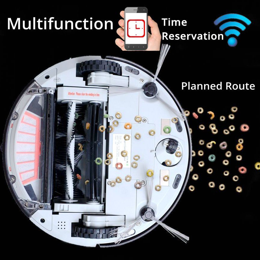 Roboter Staubsauger mit 1200 PA Power Saug für Dünne Teppich Holz etagen mopp Wi-fi-konnektivität Geplant Route Doramach FRV8
