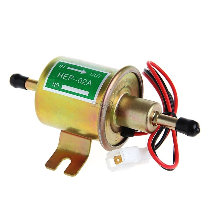 12V Universal Gas Diesel Inline Low Pressure Car Electric Fuel Pump Oil for Diesel & Petrol Engines Drop shipping