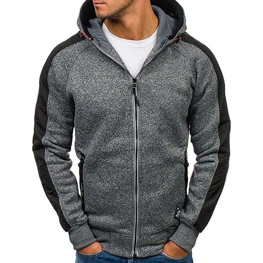 2017 de invierno más tamaño 3xl Abrigos chaqueta Sudaderas caliente espesar cremallera con capucha sudadera polar ocasional masculina Outwear Sudaderas