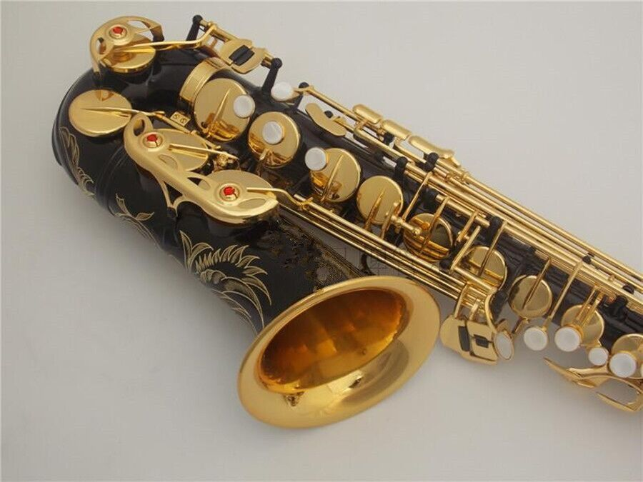 Alto Saxophone high quality musical instruments black gold Sax Beginner Professional performance Free shipping
