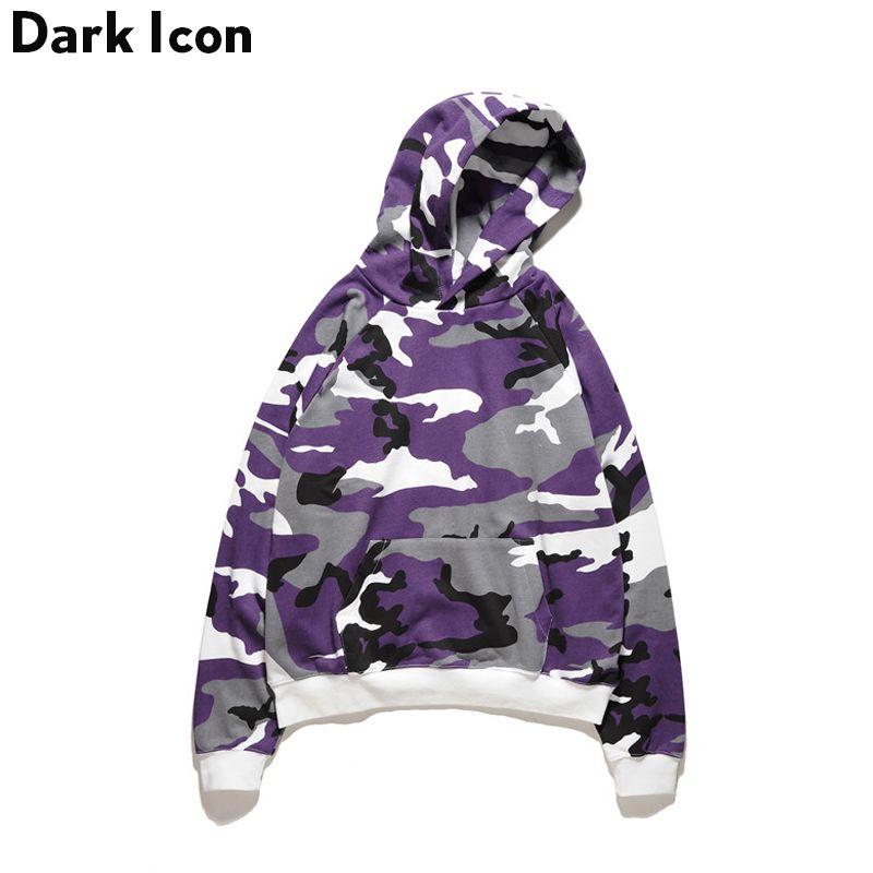 Terry Material Loose Style Camouflage Men's Hoodies 2017 Autumn Hip Hop Hoodie Men Cotton 4 Colors