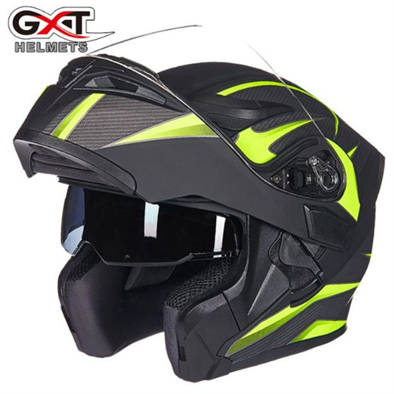 GXT 902 Motorcycle Helmet Double Visors Full face moto Helmet Racing Motorbike Filp Up Cool Men riding casco Motorcycle Helmet