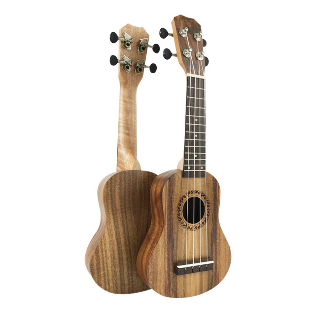 17 Inch Acacia Wood Ukulele Mini Hawaiian Guitar 4 Strings Guitarra Ukulele Handcraft Wood Musical Instrument
