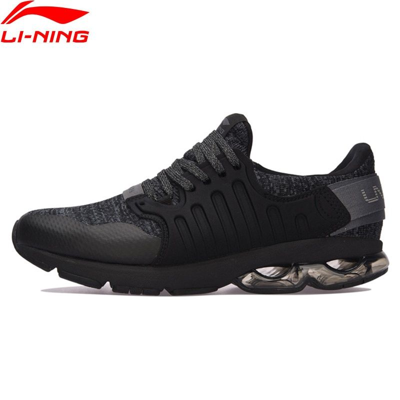Li-Ning Men Shoes BUBBLE ARC Cushion Running Shoes Wearable Anti-Slippery Li Ning Sports Shoes Breathable Sneakers ARHM091