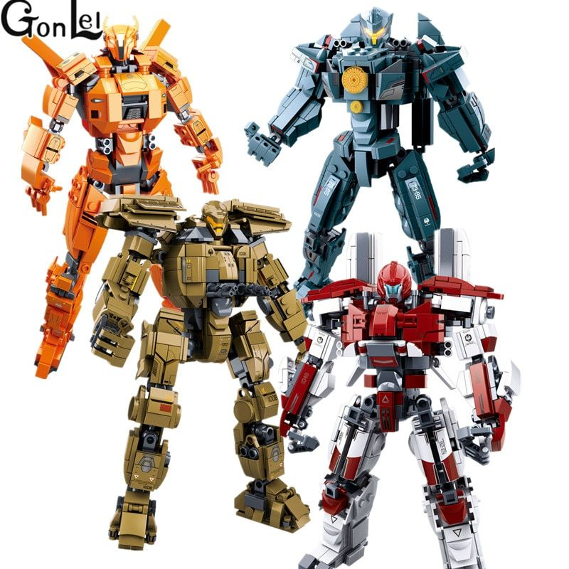 Hot 4 Styles Pacific Rim Series Building Block Set Model Robot Armor DIY Bricks Educational Toys Kids Gifts Compatible With