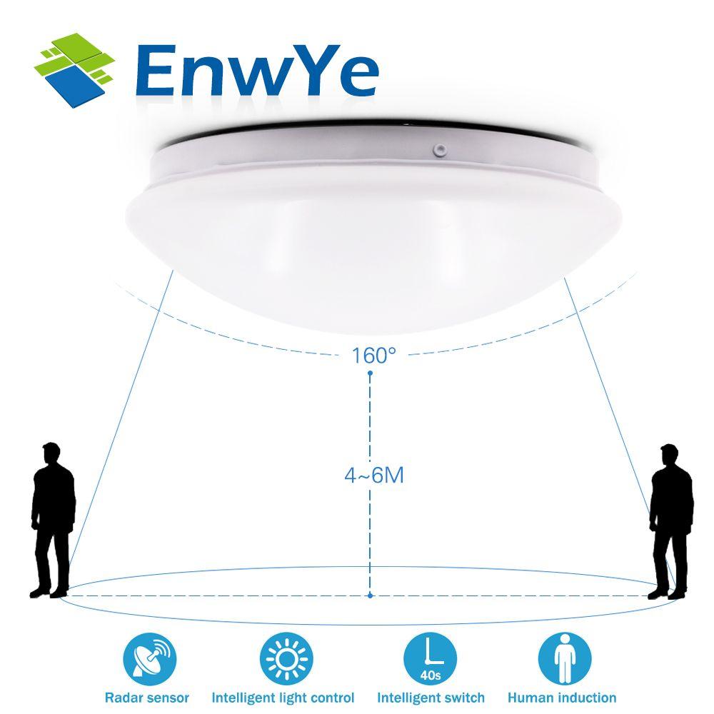 EnwYe Radar Human induction LED Ceiling lamp light Downlight 8W 12W 5730SMD 220V corridor Stairs Garage balcony