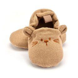 Adorable bebé Zapatillas niño niña punto Patucos historieta Linda antideslizante prewalker bebé Zapatillas