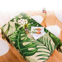 Водонепроницаемая прямоугольная скатерть в пасторальном стиле с тропическими растениями, скатерть для домашнего декора, элегантная скате...