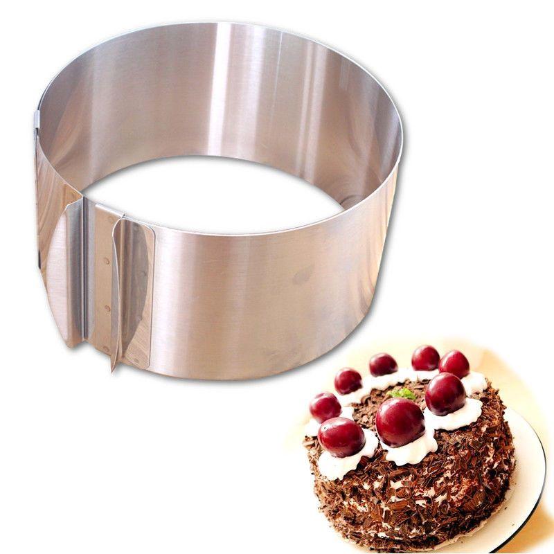 Gâteau Anneau 16-30 cm Réglable En Acier Inoxydable Cricle Moule De Cuisson Ronde Mousse Moule Couche Slicer Cutter, de Décoration De gâteau Outils