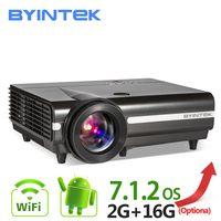 BYINTEK MOON BT96Plus Android Wi Fi Smart светодио дный видео светодиодный проектор Proyector для дома ТЕАТР Full HD 1080p поддержка К 4 к онлайн