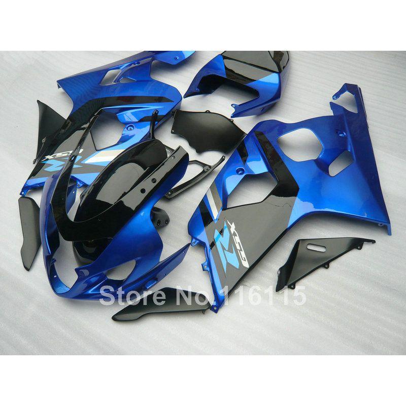 Lowest price fairing kit for SUZUKI GSXR 600/750 K4 2004 2005 blue black fairings set GSXR600 GSXR750 04 05 EG12