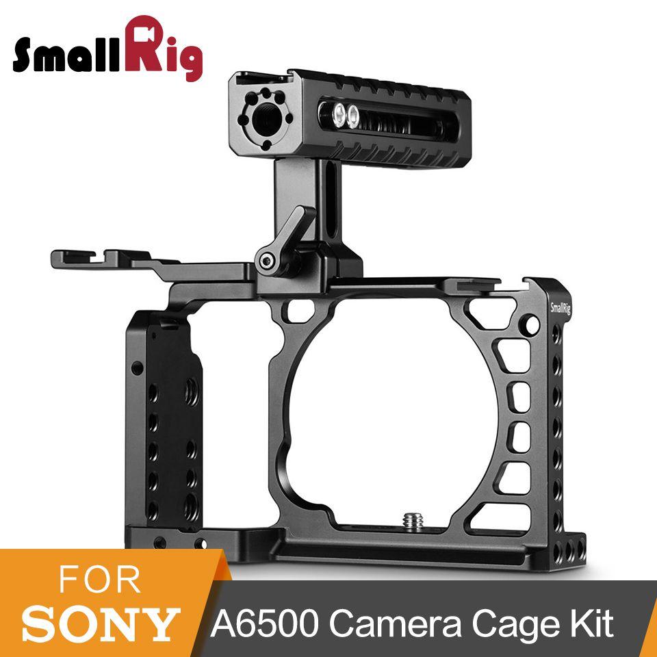 SmallRig A6500 Erweiterte Käfig Mit NATO Griff + Kalten Schuh Zubehör Kit Für Sony A6500 Hohe Qualität Aluminium Legierung Käfig -2081