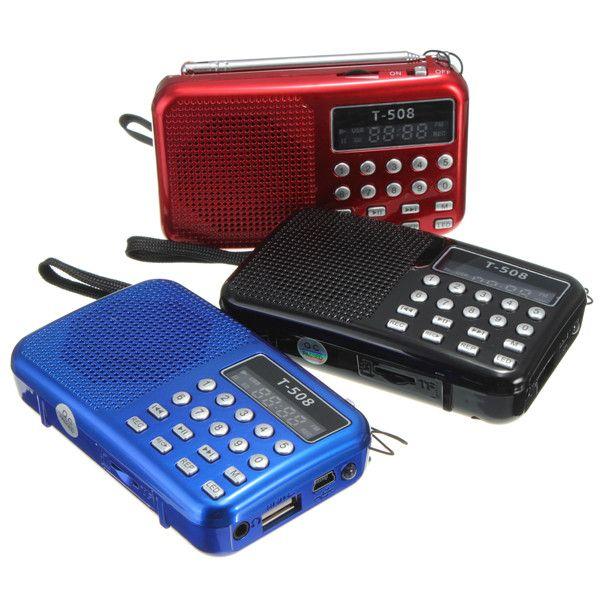 Mini haut-parleur stéréo portatif de Radio de FM de panneau de affichage LED numérique Rechargeable de double bande d'usb TF mirco pour le lecteur de musique MP3 de carte d'écart-type