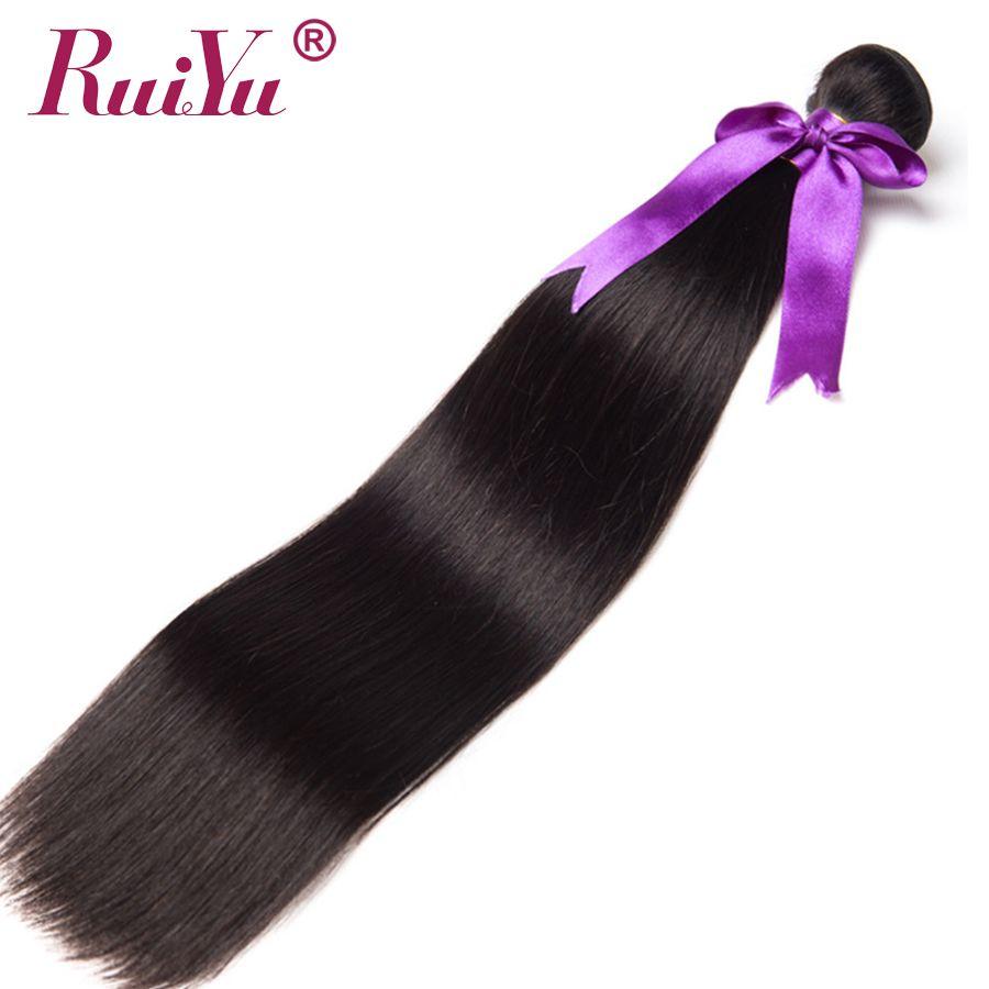 RUIYU Hair Peruvian Straight Hair Bundles Human Hair Extensions Double Weft Non Remy Hair Weave Bundles 8-28Natural Color 1PC