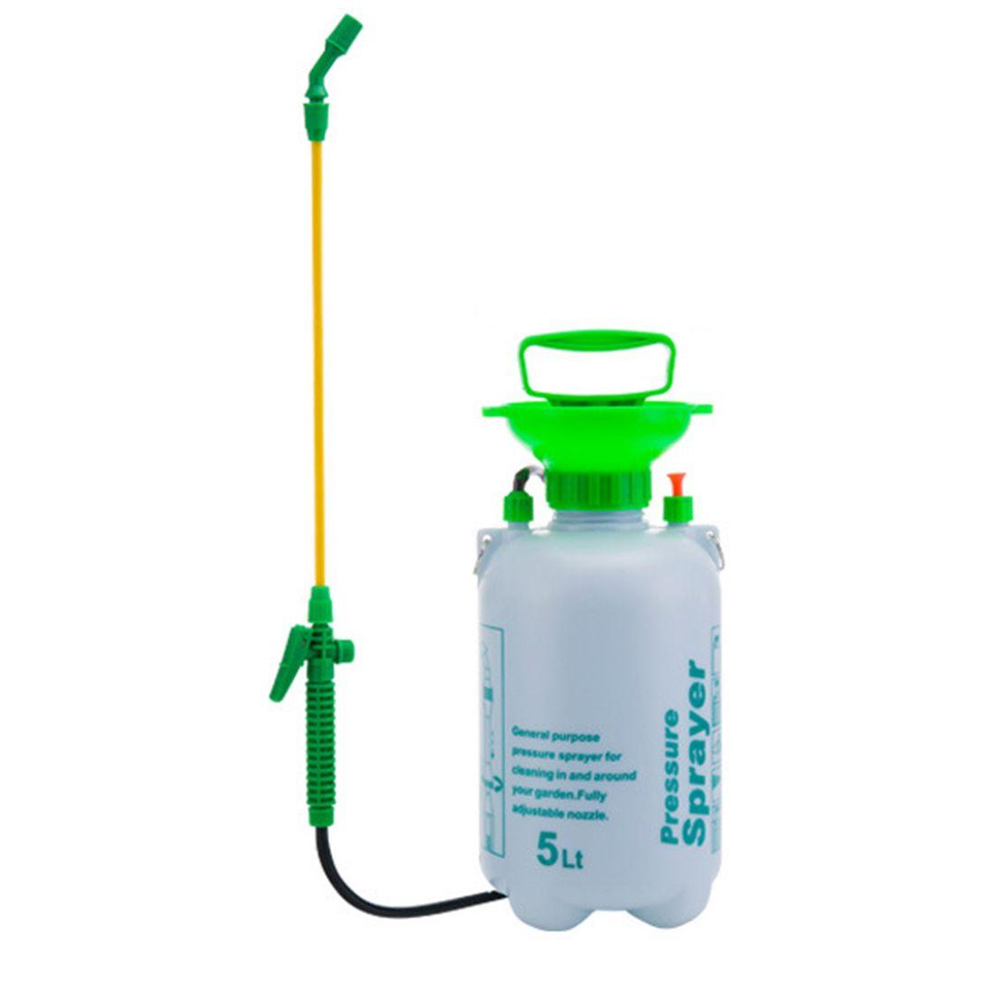 5L Plastic Agricultural Pesticide Spraying Sprayer Shouder Type Sprayer Garden Tool - White + Green