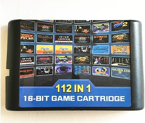 Top 112 in 1 For Sega Megadrive Genesis Game Cartridge with Contra Gunstar Heroes <font><b>Alien</b></font> Soldier Streets of Rage Sonic Golden Axe