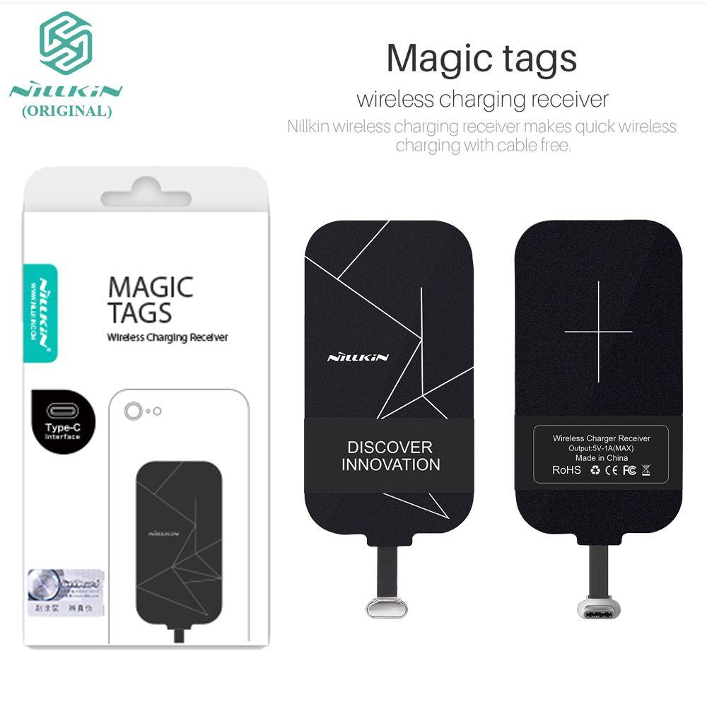 Nillkin Magique Tags Type-C QI Sans Fil De Charge Récepteur Adaptateur Récepteur Pour LG G5/Huawei P9/P9 Lite/Oneplus A3000/Meizu 6
